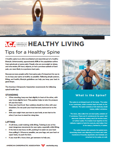 Village Family Clinic - Tips For A Healthy Spine