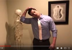 Neck stretches to alleviate neck pain